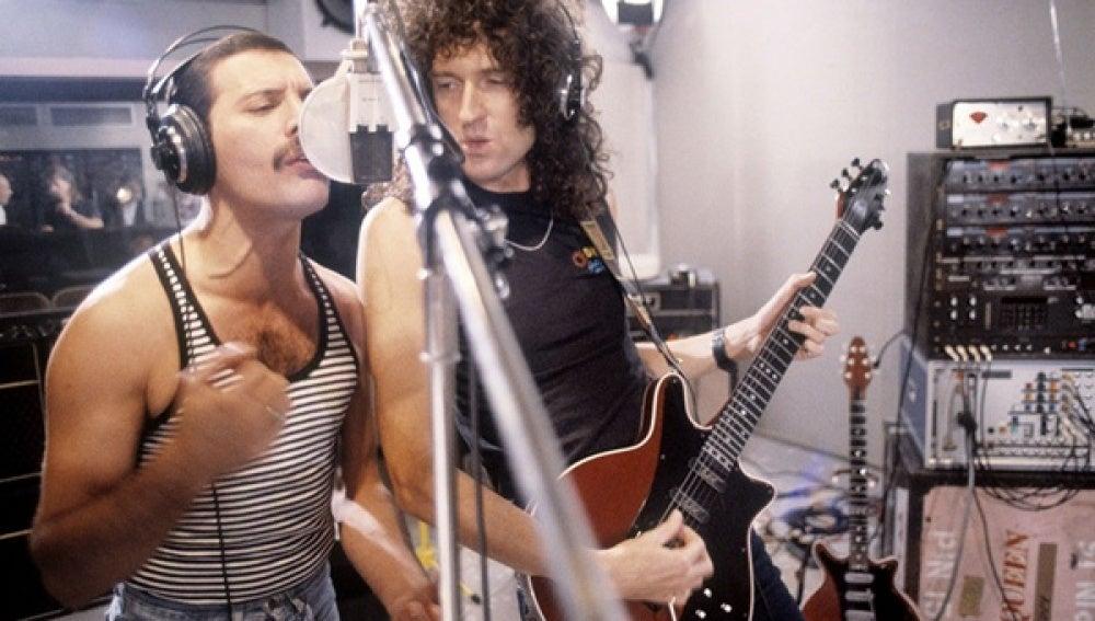 Imagen de archivo de Queen en un estudio de grabación
