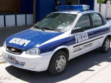 Coche de policía en Argentina