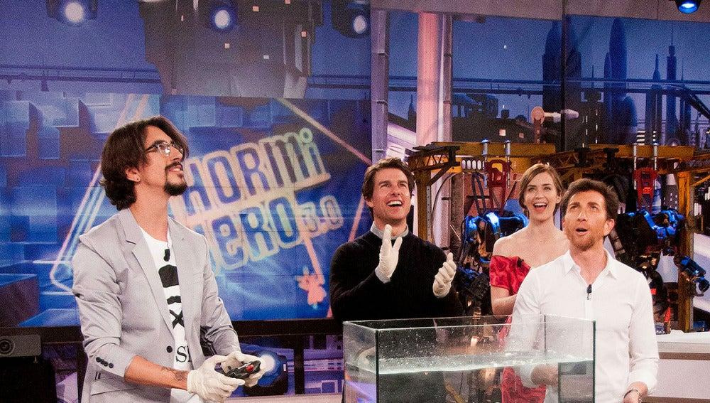 Marron con Emily Blunt y Tom Cruise en El Hormiguero 3.0