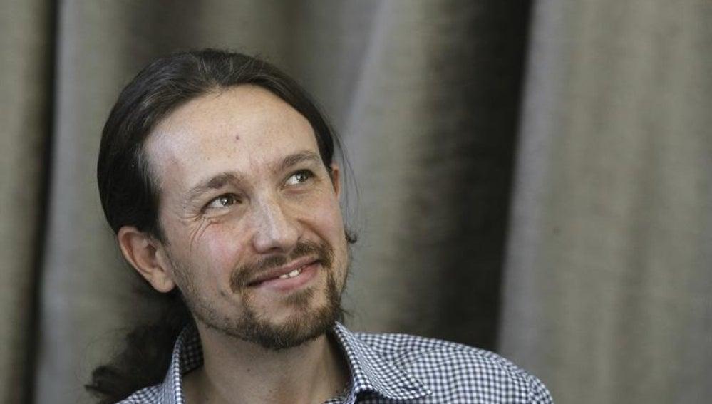 El líder de Podemos, Pablo Iglesias, en rueda de prensa.