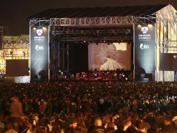 Ambiente durante el concierto de Godspeed You! Black Emperor