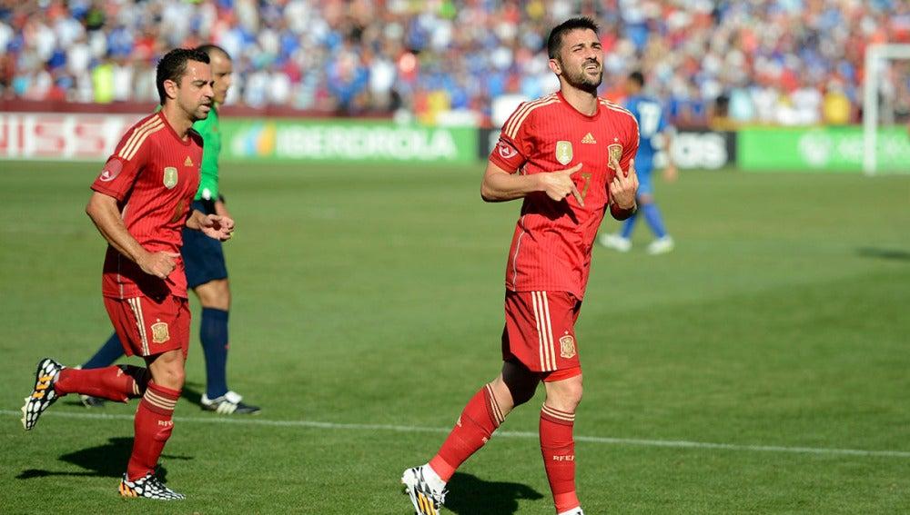 David Villa con la selección