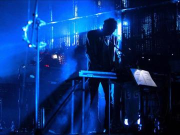El grupo británico Massive Attack durante su actuación