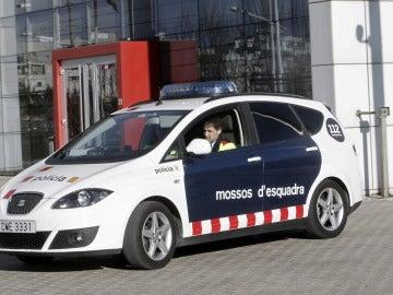 Un coche de los Mossos d'Esquadra en un suceso