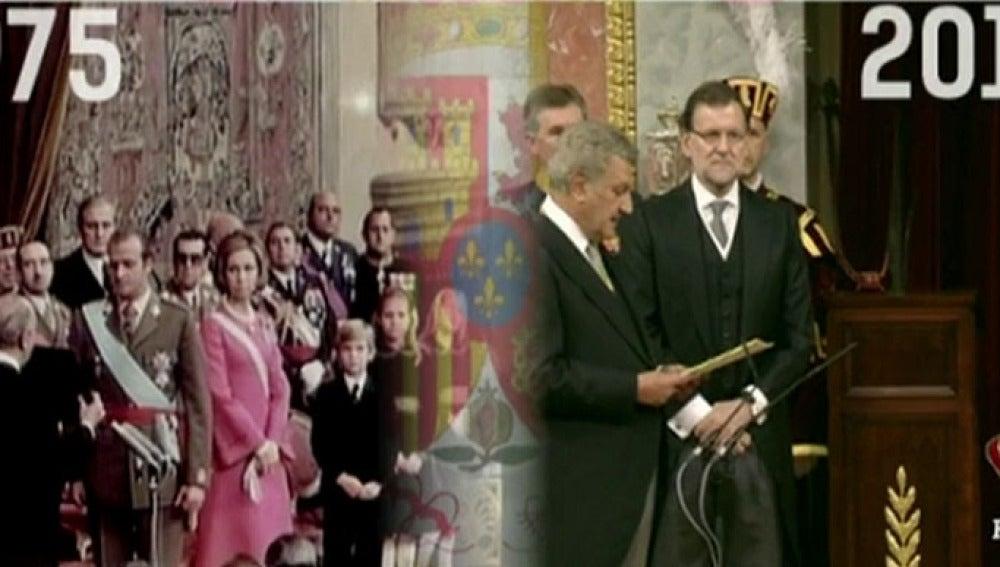 La proclamación de 1975 y la de 2014