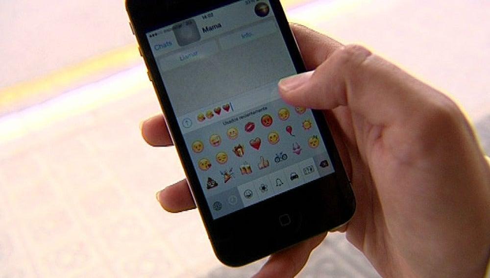 Emoticonos en un teléfono móvil