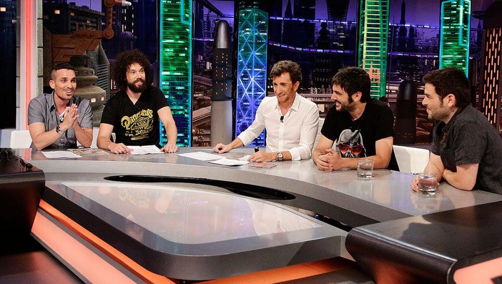 Juan, Damián, Pablo Motos y Estopa en El Hormiguero 3.0