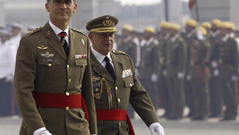 Felipe VI, en un acto castrense