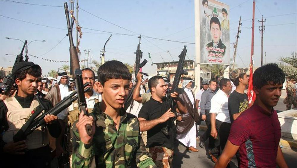 Miembros del Daesh de Irak