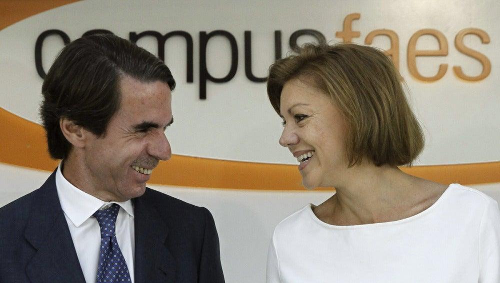 José María Aznar y María Dolores de Cospedal