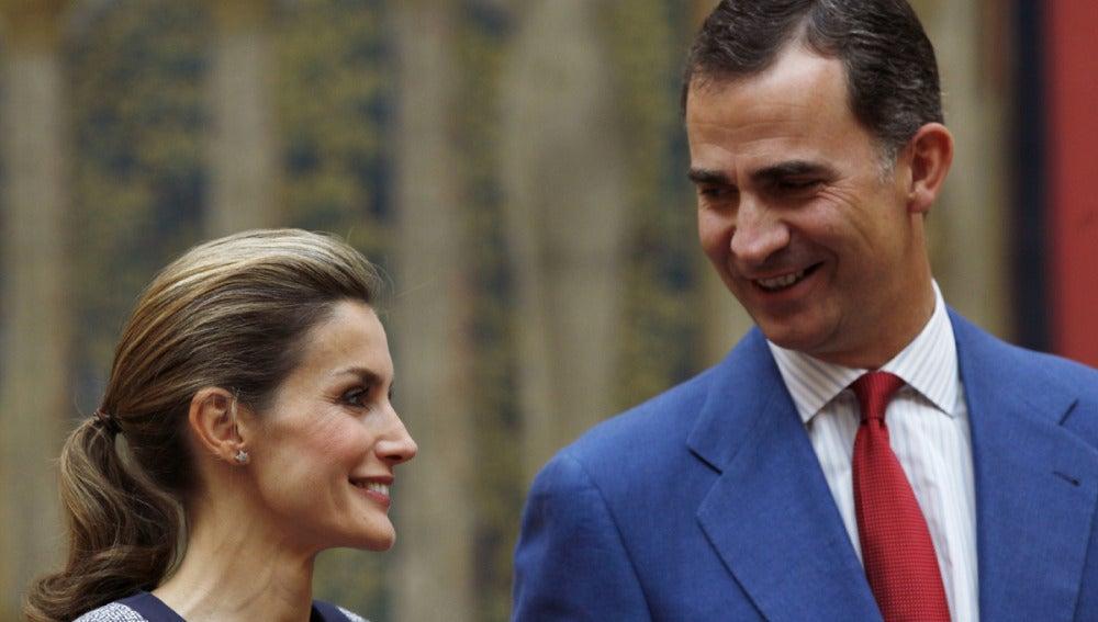Los Reyes de España en el Pardo