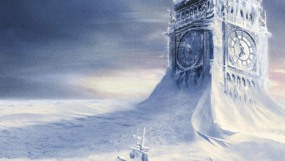 Fotograma de la película 'El día de mañana', con Londres cubierta de nieve