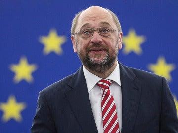 El recién reelegido presidente del Parlamento Europeo, Martin Schulz