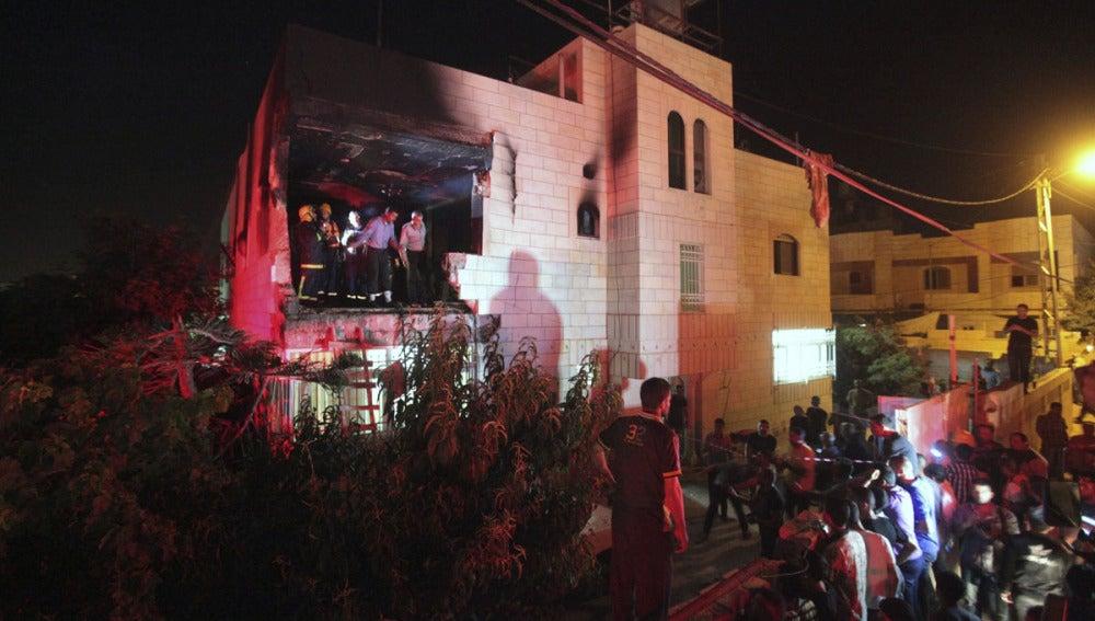 Una casa destruida por el Ejército de Israel