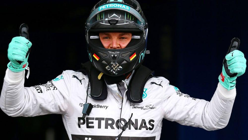Rosberg celebra su pole