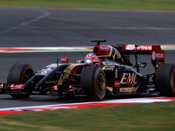 Grosjean, en Silverstone