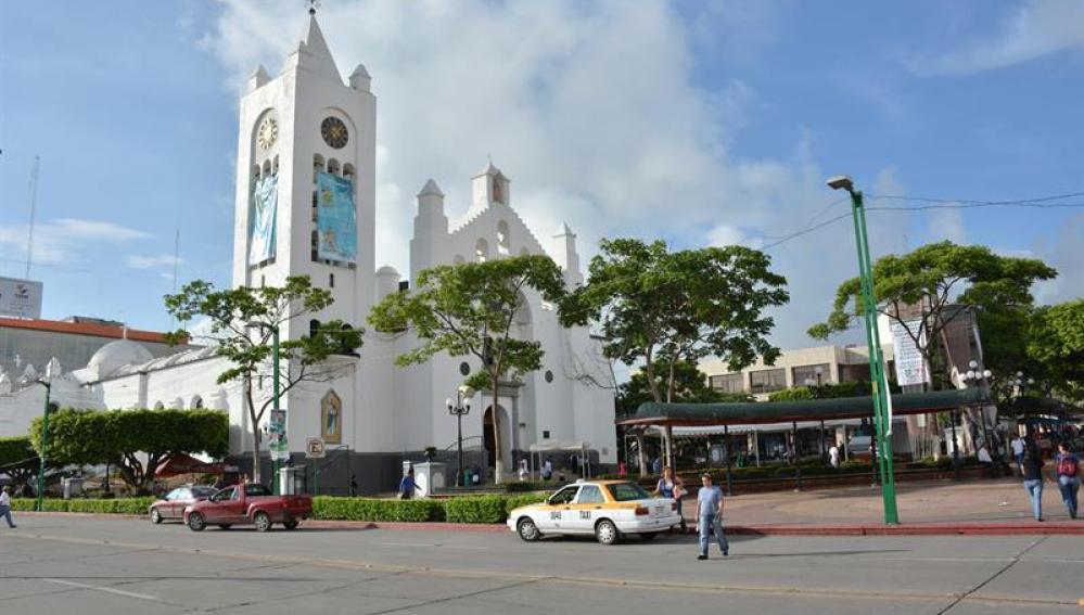 Plaza principal de Tuxtla Gutiérrez, estado de Chiapas (México)