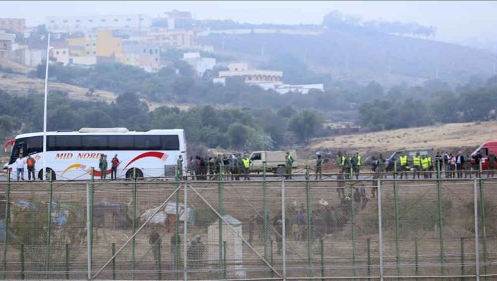 Nuevo intento de entrada masiva en el perímetro fronterizo de Melilla