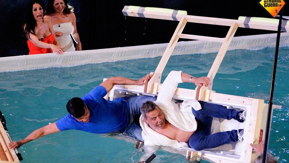 Los Chunguitos en una nevera flotante en El Hormiguero 3.0