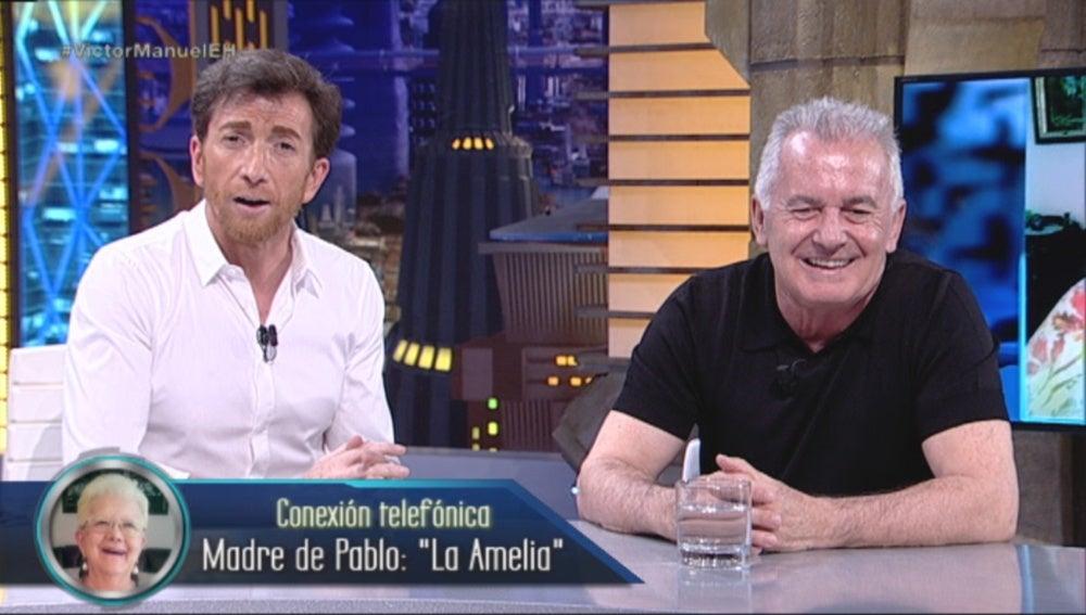 La Amelia charla con Víctor Manuel en El Hormiguero 3.0