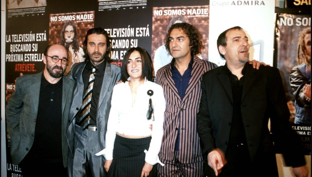 El actor en la presentación de la película 'No somos nadie'
