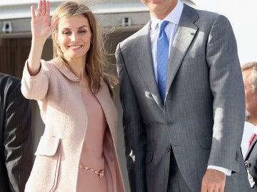 Felipe VI y la reina Letizia, durante su pasado viaje a Marruecos