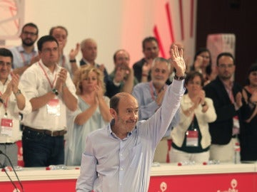 Alfredo Pérez Rubalcaba, escasas horas antes de dar el relevo como secretario general del PSOE
