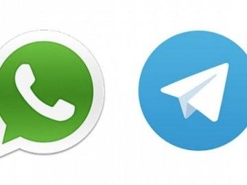 Logotipos de WhatsApp y Telegram