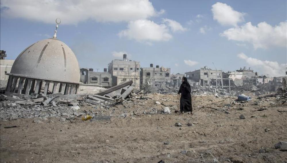 La Franja de Gaza, tras un bombardeo israelí - Imagen de archivo