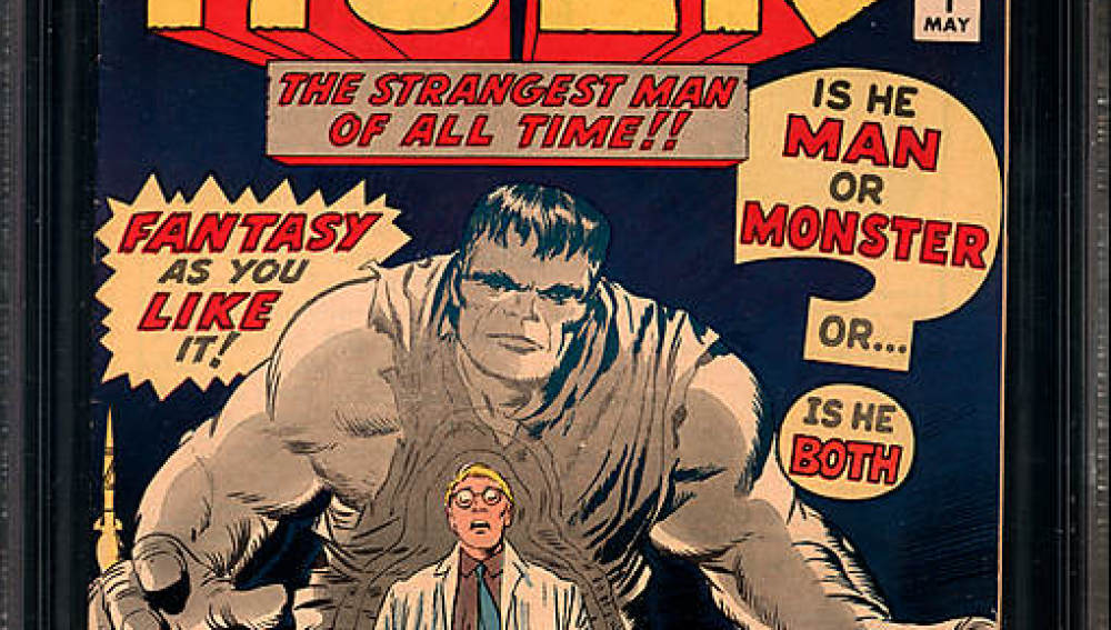 La primera edición del cómic de Hulk