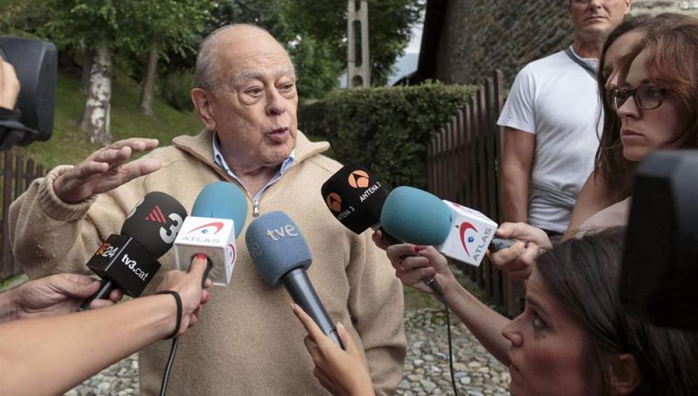 Jordi Pujol en su retiro en Queralbs