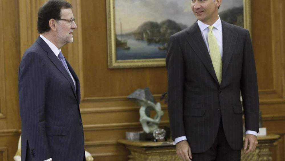 Mariano Rajoy y el Rey Felipe VI