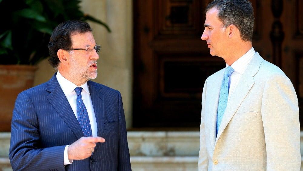 Despacho de Rajoy con el Rey