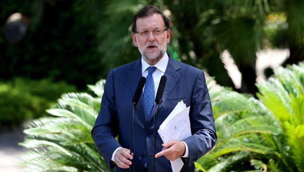 Mariano Rajoy en Marivent