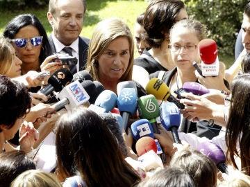 Ana Mato declara en el funeral de Miguel Pajares