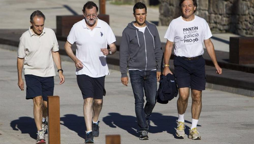 Mariano Rajoy sale a practicar deporte en Pontevedra