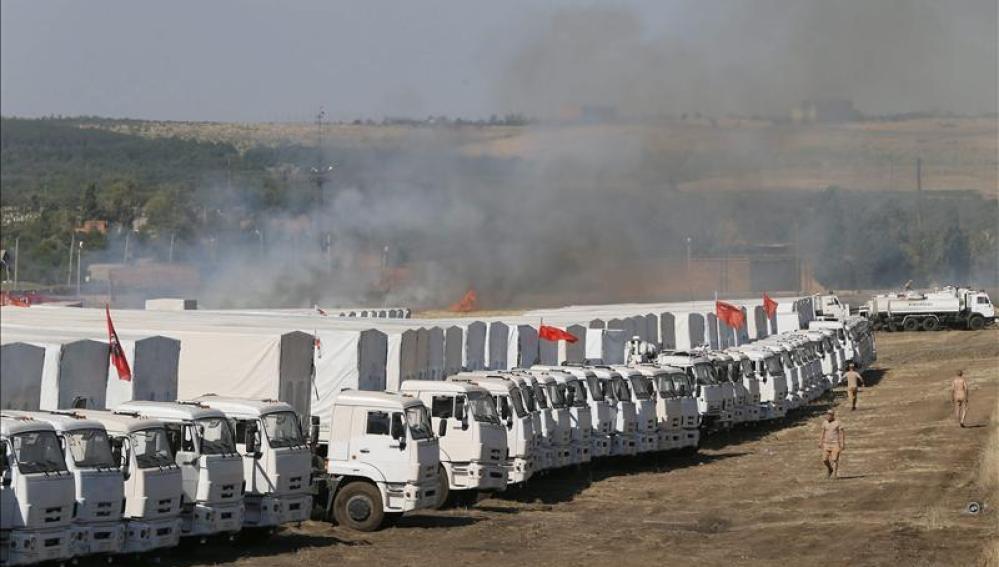 Convoy humanitario ruso en Ucrania