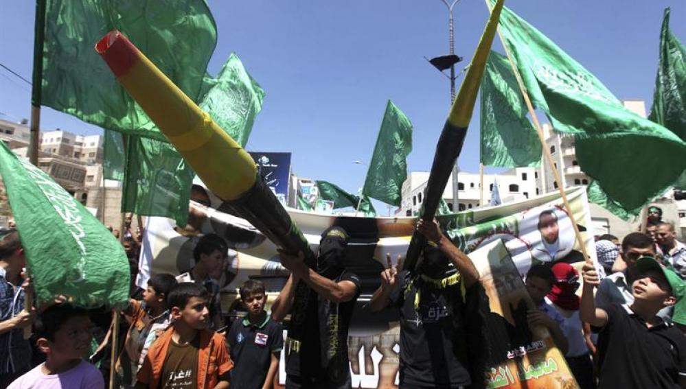 Manifestación a favor de Hamas en Gaza