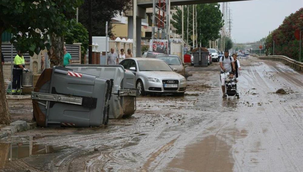 Aspecto de una de las localidades más afectadas por la lluvia