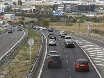 Tráfico a la altura del kilómetro 22 de la Autovía de Extremadura