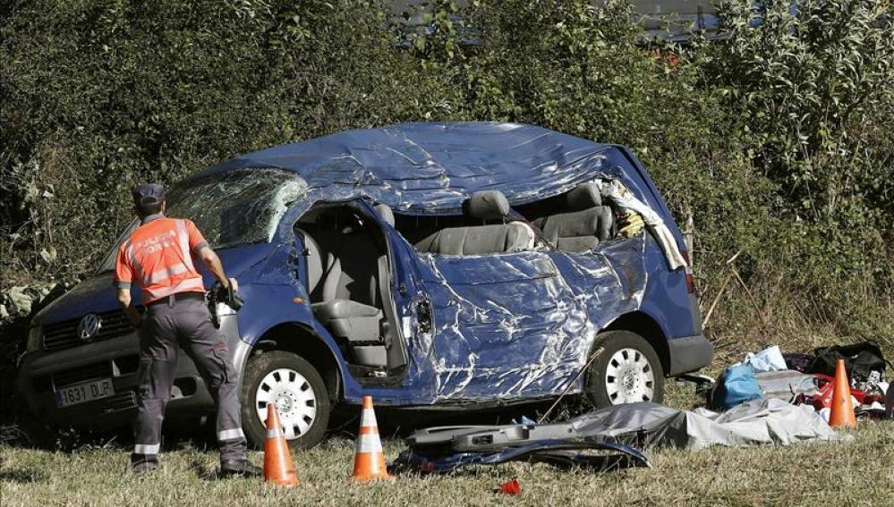 Accidente en la nacional 121-A