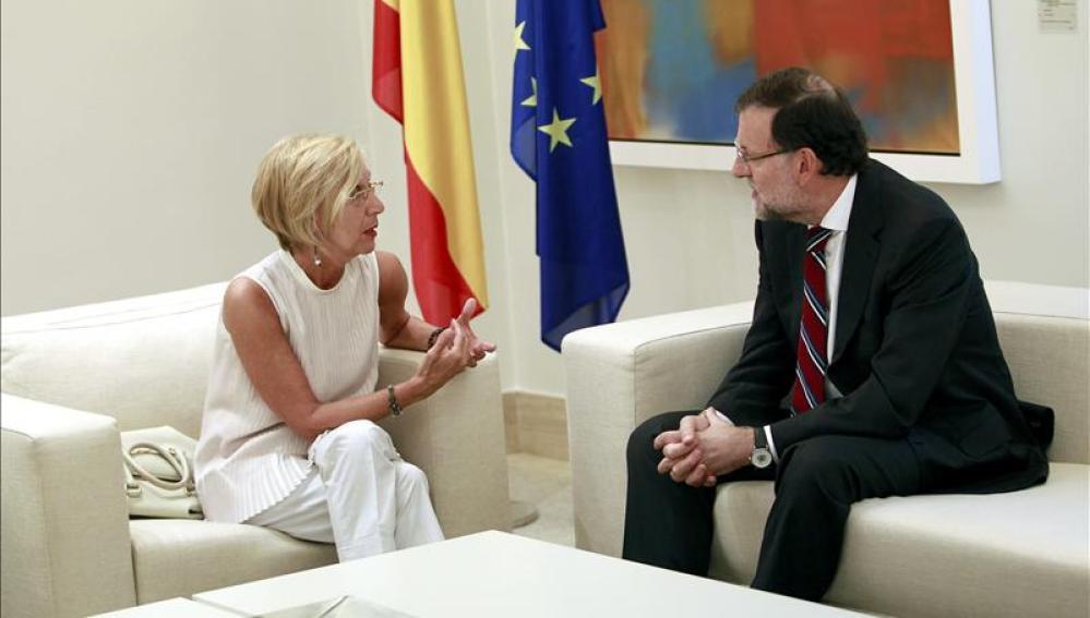 Rosa Díez y Mariano Rajoy
