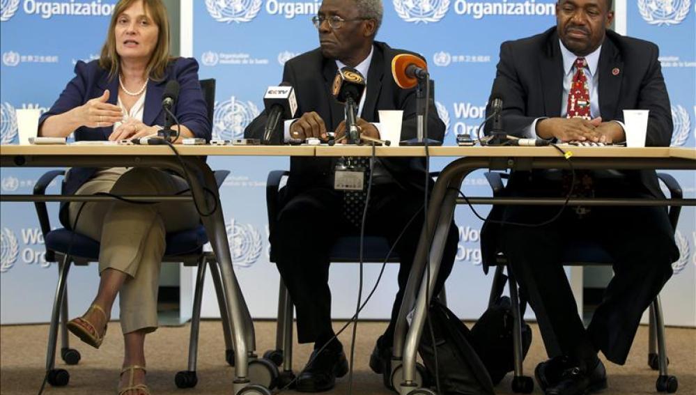 Rueda de prensa en la sede de la OMS en Ginebra
