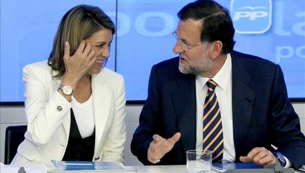 Mariano Rajoy y María Dolores de Cospedal.