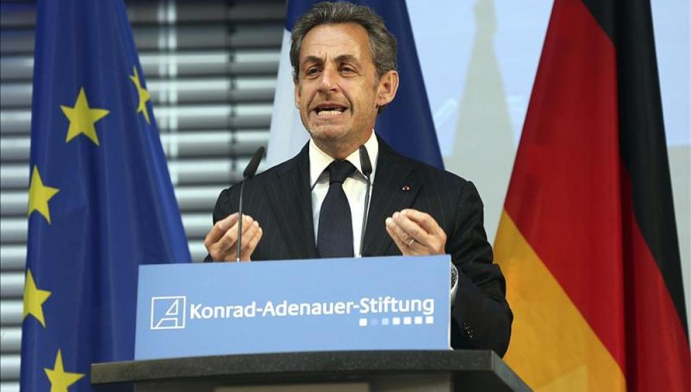 Nicolas Sarkozy, durante una rueda de prensa