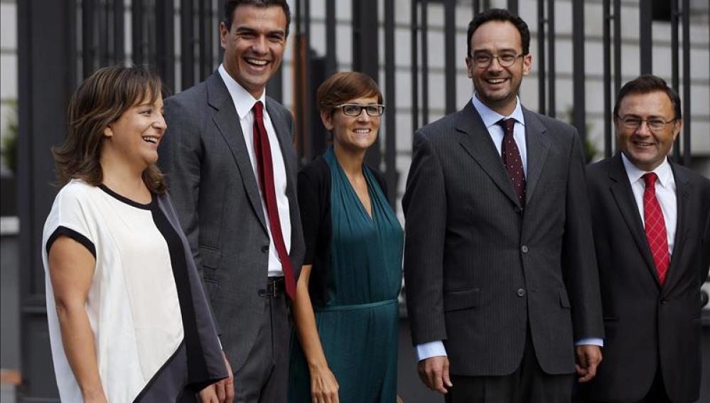 Reunión conjunta de los grupos parlamentarios del PSOE en el Congreso