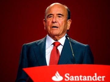 Emilio Botín, presidente del Santander