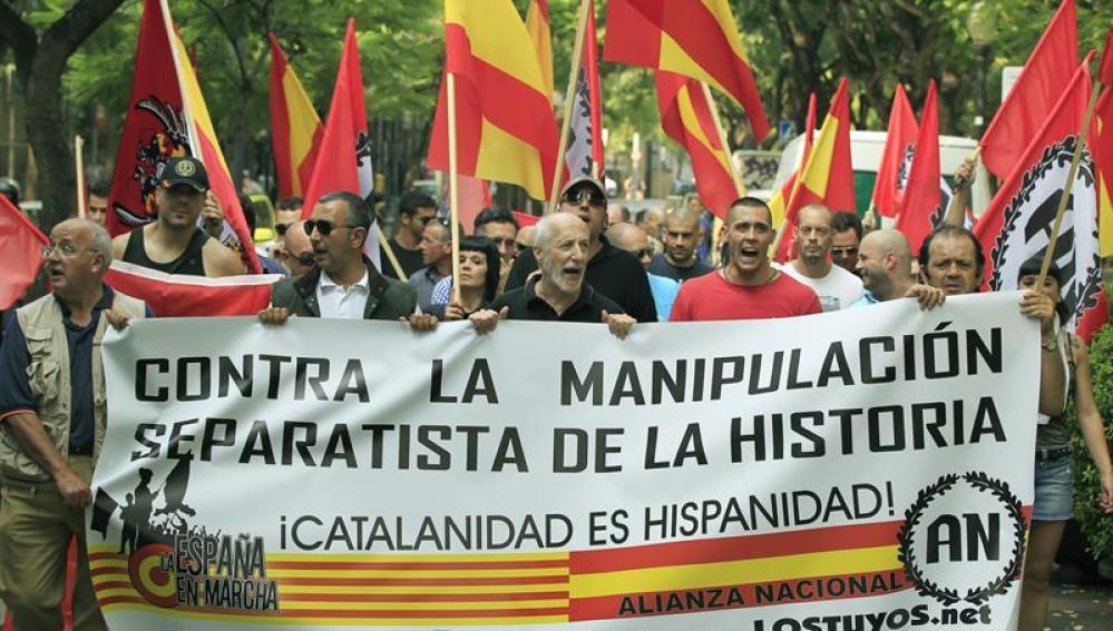 marcha ultraderechista convocada por Alianza Nacional en Barcelona