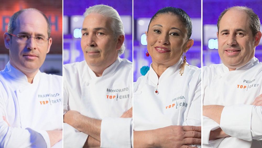 Los cuatro eliminados en el primer programa