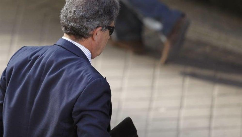 Jordi Pujol Ferrusola a su llegada a la Audiencia Nacional.